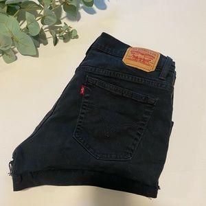 Levi's Black cut off jean shorts vintage hang made